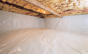 Crawl Space Moisture Barrier After in Newark