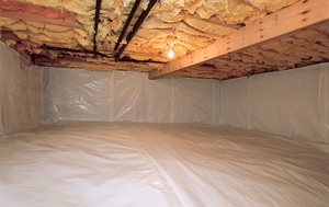 CleanSpace® vapor barrier after in Newark
