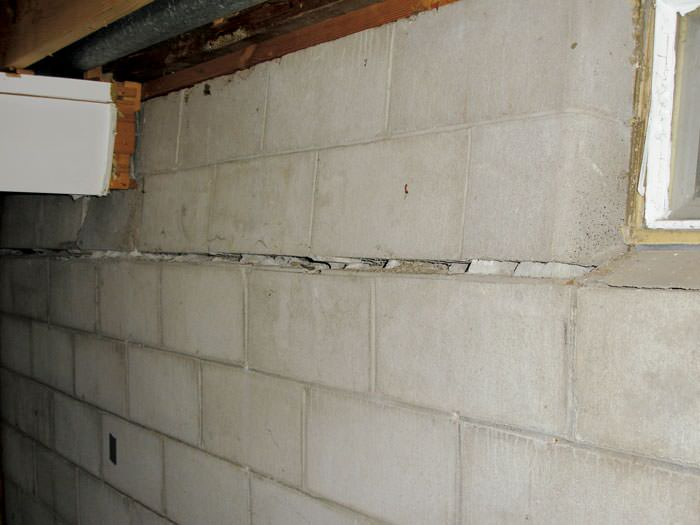 Severely Buckling Foundation Walls In A Home Kennett Square Need Of Repairs