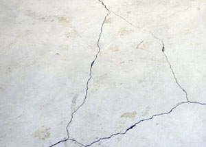cracks in a slab floor consistent with slab heave in New Castle.