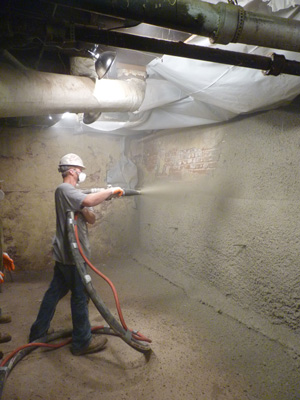 Shotcrete wall restoration services in Philadelphia
