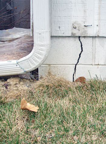 foundation wall cracks due to street creep in Wilmington
