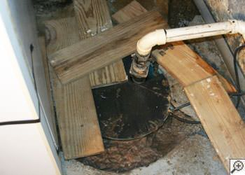 An ugly, clogged sump pump system in Cherry Hill, Pennsylvania, New Jersey, and Delaware
