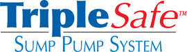 Sump pump system logo for our TripleSafe™, available in areas like Chester