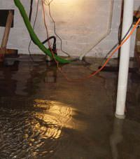 Several feet of floodwaters in a Norristown basement