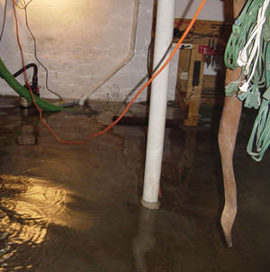 Foundation flooding in a Vineland,Pennsylvania, New Jersey, and Delaware home