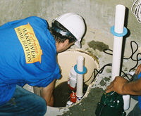 installing a sump pump and backup sump pump system in Drexel Hill, PA, NJ, and DE