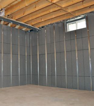 Installed basement wall panels installed in Vineland